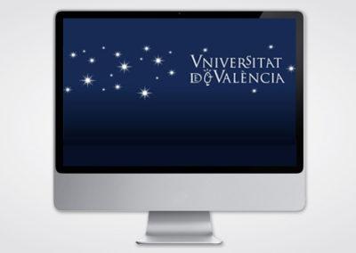 Felicitación multimedia navidad Universitat De Válencia 2012